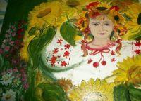 осень рисунки детей красками 8