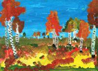 осень рисунки детей красками 9