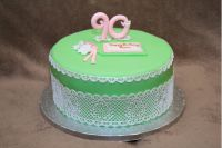 как украсить торт кружевом из мастики 1