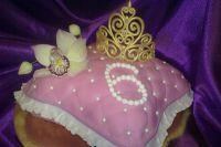 Мастер класс корона на торт из мастики 6