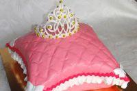 Мастер класс корона на торт из мастики 9