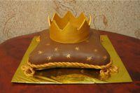 как сделать золотую корону из мастики 7