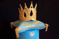 как сделать золотую корону из мастики 9