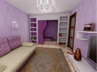 Сиреневый цвет стен 4
