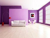 Сиреневый цвет стен 6