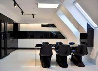 Квартира в черно белом стиле 1