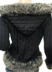 Вязаная куртка с капюшоном 9