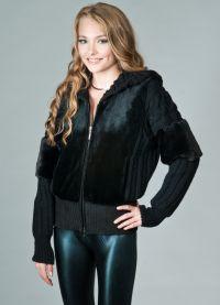 Куртка с вязанными рукавами 9