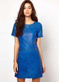 Короткое прямое платье 6