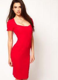 Короткое прямое платье 8