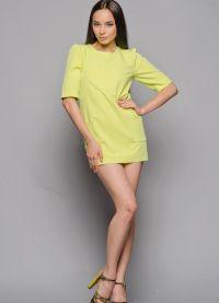 Короткое прямое платье 9