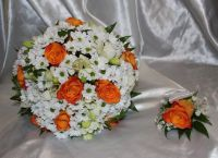 Свадебный букет из ромашек 2