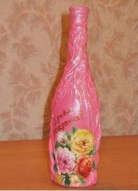 декорирование бутылок своими руками 37