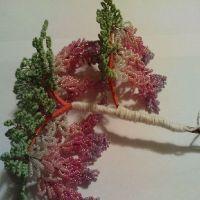 дерево из бисера глициния 20