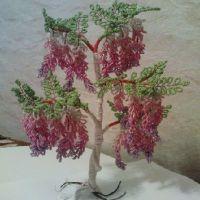 дерево из бисера глициния 23