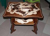 деревянные журнальные столики 7