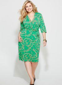 фасоны платьев для полных женщин маленького роста1