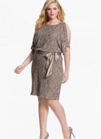фасоны платьев для полных женщин маленького роста3