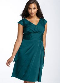 фасоны платьев для полных женщин маленького роста4