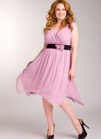 фасоны платьев для полных женщин маленького роста5