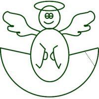 как сделать ангела из бумаги 1