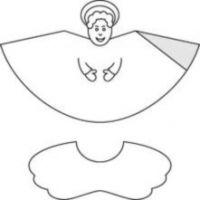 как сделать ангела из бумаги7