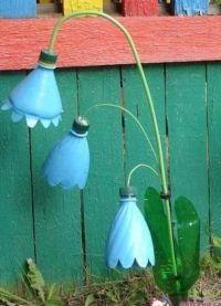 колокольчики из пластиковых бутылок5