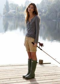 С чем носить зеленые сапоги 2