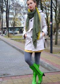 С чем носить зеленые сапоги 3