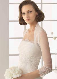 Свадебное <strong>кружевом</strong> болеро с длинным рукавом <em>болеро с длинным рукавом и кружевом</em> 1