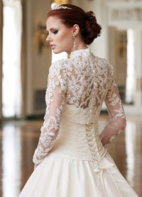 Свадебное болеро с длинным рукавом 11