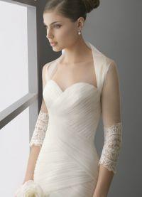 Свадебное болеро с длинным рукавом 12