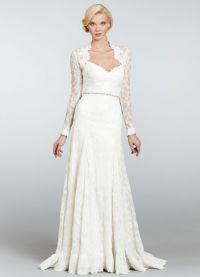 Свадебное болеро с длинным рукавом 3