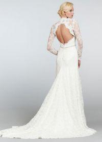 Свадебное болеро с длинным рукавом 4