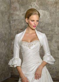 Свадебное болеро с длинным рукавом 6