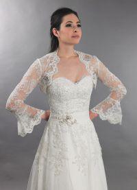 Свадебное болеро с длинным рукавом 7