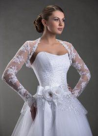 Свадебное болеро с длинным рукавом 9