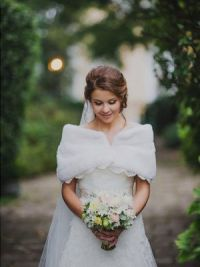Свадебные накидки на осень 10