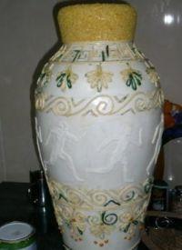 Напольная ваза своими руками 13