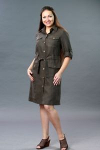 Платье сафари для полных 7