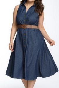 Платье сафари для полных 8