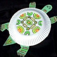 поделки из одноразовых тарелок 8