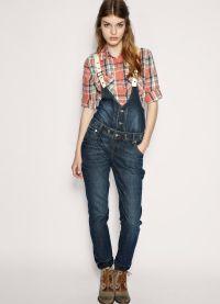 с чем носить джинсовый комбинезон 6
