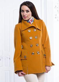 с чем носить горчичное пальто 9