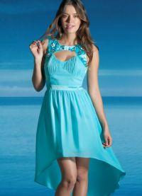 Шифоновое платье со шлейфом 1