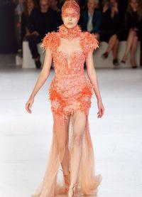 Шифоновое платье со шлейфом 2
