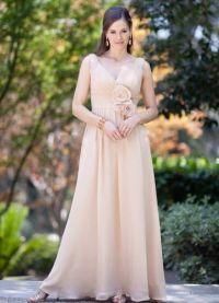 Шифоновое платье со шлейфом 4