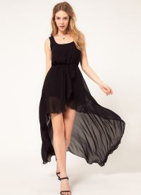 Шифоновое платье со шлейфом 5
