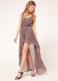 Шифоновое платье со шлейфом 6