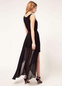 Шифоновое платье со шлейфом 8